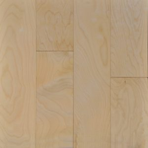 "Ark Floors, A & W Group Collection 3/8"" x 4-3/4"" x 2.5' Hardwood Flooring Asian Maple in Natural Birch Color-0"