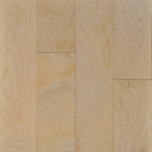 """Ark Floors, A & W Group Collection 3/8"""" x 4-3/4"""" x 2.5' Hardwood Flooring Asian Maple in Natural Birch Color-0"""