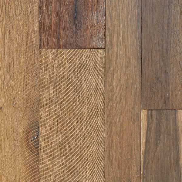 """Linco Floors, Russian River Collection 5/8"""" x (3 1/4"""" - 4""""- 6"""") x 84"""" Long Hardwood Flooring White Oak in Bodega Bay Color-0"""