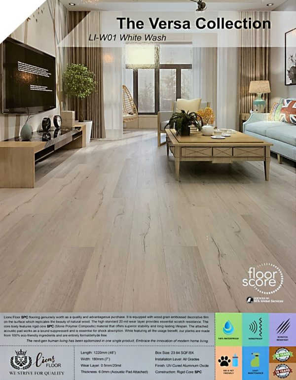 "White Wash 9"", SPC Flooring | VFO Flooring"