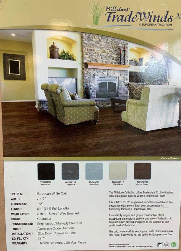 "European White Oak Engineered Wood Floor 1/2"" x 7 1/2"""