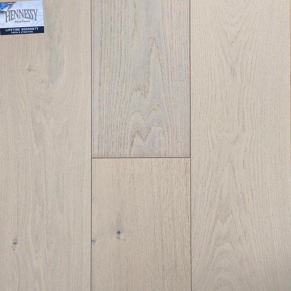 "Hennessy Wood Floors, French Oak 3/4 "" x 9"" x 6' RL Hardwood Flooring in Perla Color"