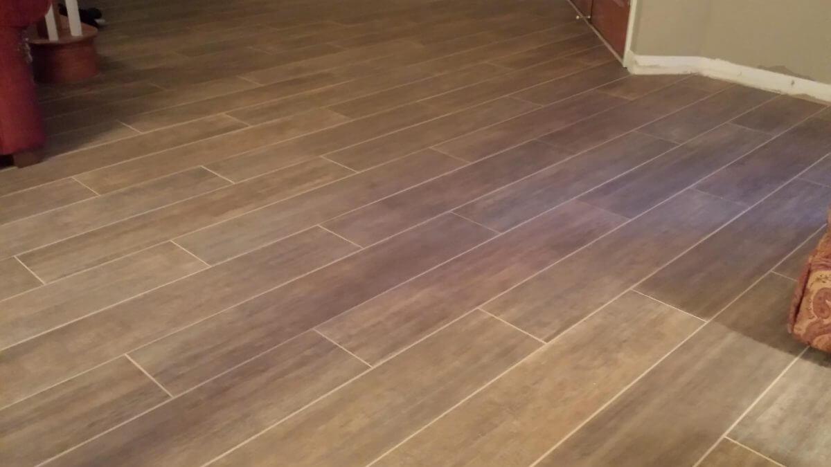 Wood Tile Floor in Van Nuys