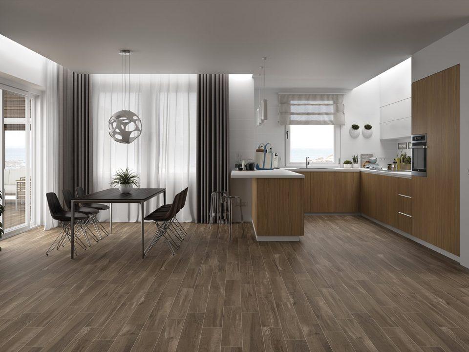 Wood Tile Floor in Chatsworth