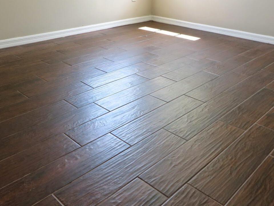Wood Tile Floor in Toluca Lake